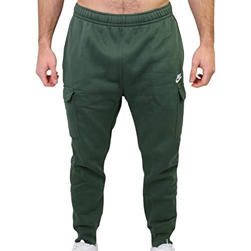 Nike Herren Club Fleece Jogginghose mit Cargotaschen Grün XL