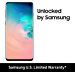 Samsung Galaxy S10, 128GB, Prism White - Fully Unlocked (Renewed)
