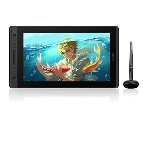 HUION Kamvas Pro 16 tableta grafica para dibujar con pantalla 15,6 pulgadas tableta grafica con pantalla,antideslumbrante de Monitor de gráficos adecuado para educación a distancia y oficina en línea