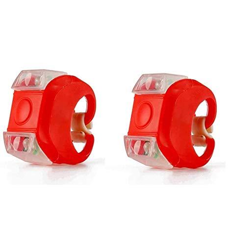 TDNE Fahrradlicht vorne und hinten Fahrradlichtset Helle wasserdichte Fahrradlichter vorne und hinten (Rote Lichter) (2 Packungen)