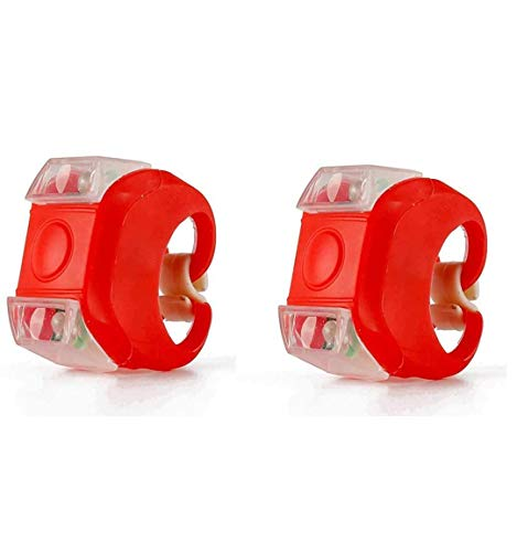 TDNE - Set di luci per bicicletta, anteriori e posteriori (luci rosse) (2 confezioni)