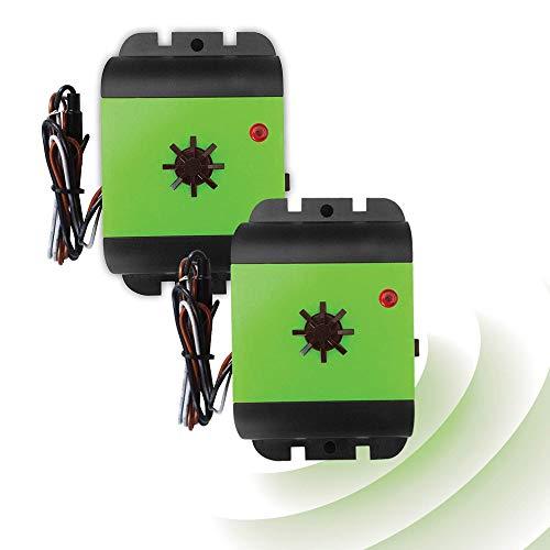 ISOTRONIC Repellente per martore | Dissuasore per martora a batteria da 12 V | Senza veleno e sostanze chimiche | Protezione macchina contro martore e topi a ultrasuoni (2)