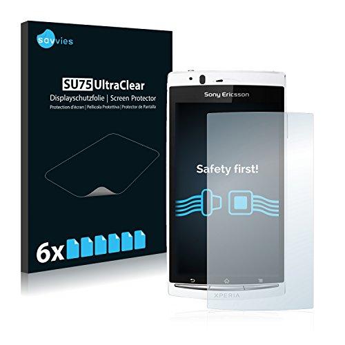 savvies 6-Pezzi Pellicola Protettiva Compatibile con Sony Ericsson Xperia Arc S LT18i Protezione Schermo Trasparente