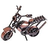 Modelo de Motocicleta de Hierro fForjado, Modelo de Motocicleta Harley Retro, Moto de Moda Clásica para la Decoración de la Oficina en el Hogar, Decoración de Escritorio Creativa (Tono de Bronce)