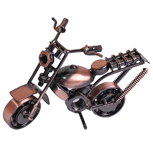 Modelo de Motocicleta de Hierro fForjado, Modelo de Motocicleta Harley Retro, Moto de Moda Clásica para la Decoración de la Oficina en el...