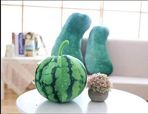 JJFU sierkussen vorm kussen hoofdkussen simulatie groentewatermeloen groot wit pompoenonderricht kussen