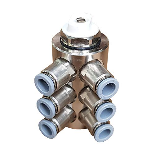Jollytherm 10112 Aquaheat Verteiler 6-fach für Doppelrohr Warmwasser Fußbodenheizung