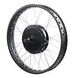 KUIDAMOS Accesorio de conversión Ebike Kit de conversión de Bicicleta eléctrica Kit de Motor Ebike Rueda de 20 Pulgadas, con Motor de 48 V 1000 W, Adecuado para Bicicleta(Rear Drive Card Fly)