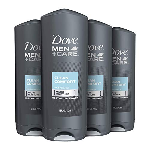 Dove MEN+CARE Body and Face Wash for Healthier and Stronger Skin Clean Comfort Effectively Washes Away Bacteria While Nourishing Your Skin 18 oz 4 Count