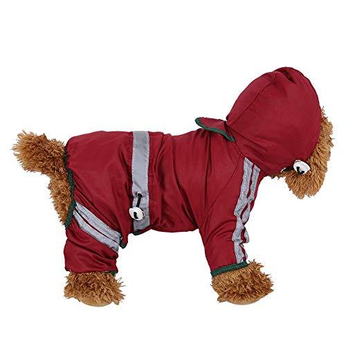 Fdit Cappotto Impermeabile per Cani Cappotto Impermeabile per Cani Gatto Impermeabile Cappotto per Pioggia Tuta Riflettente per Cani di Taglia Piccola