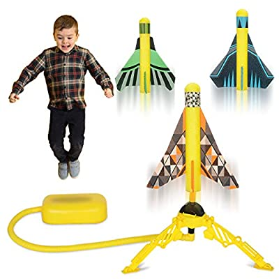 HISTOYE Toy Air Rocket Launcher for Kids Launch Toys with 3 Stunt Planes Boys Toys Age 6-8 Fun Indoor & Outdoor Activity Learning Gift for 3 4 5 6 7 8 9+ Year Old Boys Girls