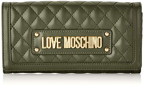 Love Moschino Portafogli Quilted Nappa Pu, Donna, Verde (Verde), 9x3x19 cm (W x H x L)
