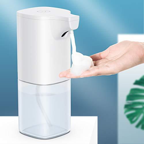 Automatischer Seifenspender, Automatischer Schaumseifenspender, Schäumende Seifenspender Automatisch Berührungslos Desinfektionsspender Elektrischer Seifenspender mit Infrarot Sensor, 350ml