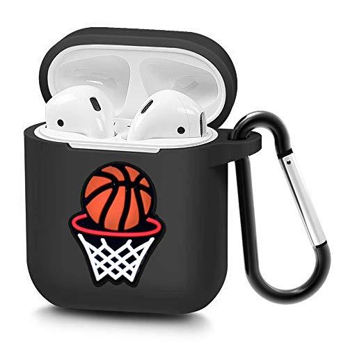 niukamo Airpods Hülle, [2020 Released], weiche Silikon-Schutzhülle, stoßdämpfende Schutzhülle mit Schlüsselanhänger für AirPod-Hülle (Basketball)
