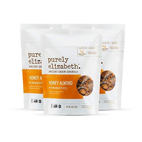 Purely Elizabeth Vegan Gluten-Free Probiotic Granola, Honey Almond (3 Ct.)