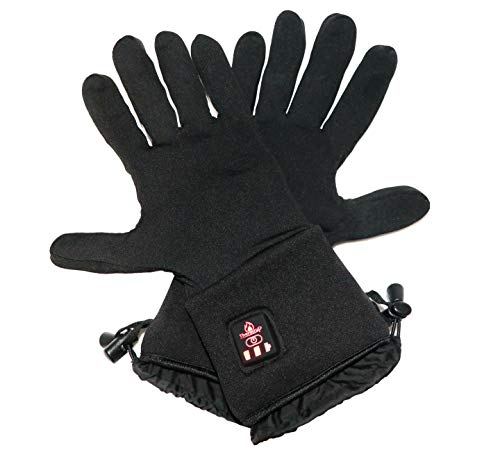 Thermrup Beheizbare Handschuhe Unterziehhandschuhe mit 4 Stufen Temperaturregler, Akkubetrieb (M)