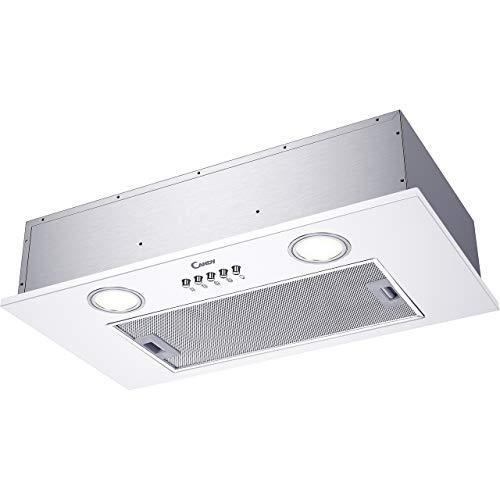 Groupe filtrant Candy CBG6251W - Hotte aspirante Box - largeur 52 cm - Débit d'air maximum (en m3/h) : 207 - Niveau sonore Décibel mini. / maxi. (en dBA) : 57 / 63