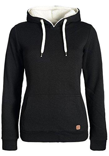 DESIRES Derby Pile Damen Winter Pullover Kapuzenpullover Hoodie Sweatshirt mit Kapuze und Teddy-Fell, Größe:S, Farbe:Black (9000)