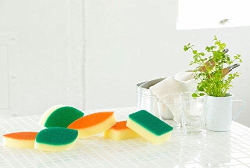 亀の子キッチンスポンジDo角型オレンジ3個セット22192163