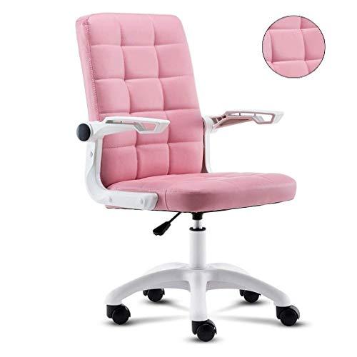 CEyyPD. Bürocomputer Stuhl Innenministerium Stuhl Gemütlich Studentenwohnheim Spiel Stuhl Rosa Spiel Drehstuhl Einfach Verstellbarer Stuhl (Farbe: Pink) (Color : Pink)