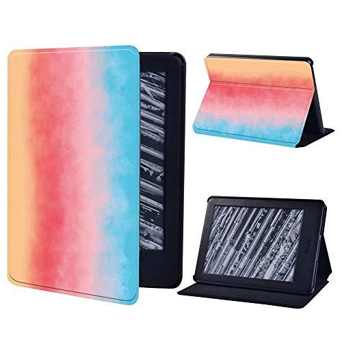 BHTZHY Funda de piel resistente a prueba de golpes con función atril para Amazon Kindle Paperwhite 1 5Th/2 6Th/3 7Th/4 10Th/Kindle 8Th/10Th Tablet, color morado claro, Kindle 10Th Gen 2019