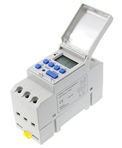 Preisvergleich Produktbild Woljay Zeitschaltuhr THC15A AC / DC 12V Digital LCD Programmierbarer Timer 16A Zeit Timer