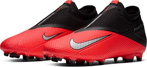 Nike Phantom VSN 2 Academy DF FG/MG, Scarpe da Calcio Unisex-Adulto, Laser Crimson/Metallic Silver-Black, 41 EU