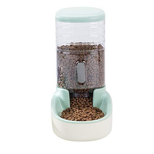 Alimentadores automáticos Deusa para mascotas o gatos, fuente de gran capacidad para beber, dispensador de agua o cuencos de alimentación de alimentos, Verde, food feeder