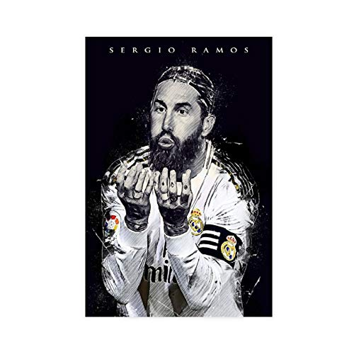 Póster deportivo de alta definición de Sergio Ramos, de 60 x 90 cm, diseño de jugador de fútbol famoso en el mundo