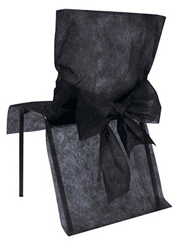 10 Housses de chaise Noir - taille - Taille Unique - 212663