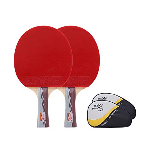 Great Price! CHENTAOCS Table Tennis Racket, Horizontal Shot, Pen-Hold, Six-Star 2 Pack Table Tennis ...