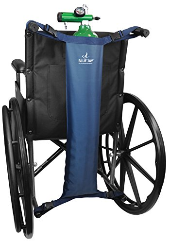 Blue Jay An Elite Healthcare Brand Hold My Tank Oxygen Tank Bag for Fits Any Wheelchair| Easy-to-Adjust Quick Release Buckles with Extra Long Straps | Waterproof Nylon Mask | Respiratory Aids