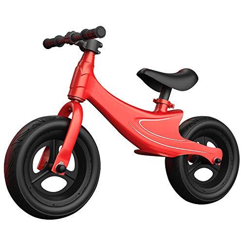 Bicicletta Senza Pedali, Telaio in Lega Di Magnesio con Sella Regolabile Bicicletta Equilibrio per Bambini, per Bambini da 2 a 5 Anni/rosso / 85x55x35cm