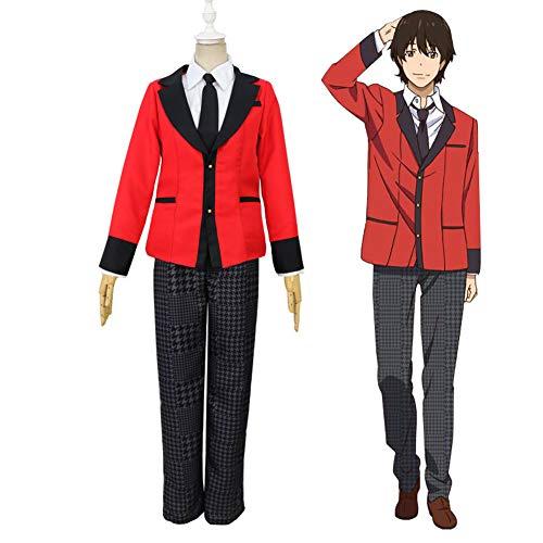LJLis Anime japonés Holiday Cosplay Disfraces Anime Kakegurui Yumeko Jabami Japanese School Girls Uniforme Conjunto Completo,XL