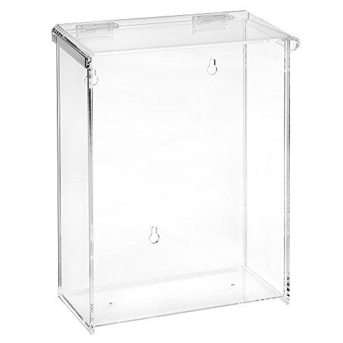 DIN A4 Prospektbox/Katalogbox / Prospekthalter mit Extra Fülltiefe, wetterfest, für Außen, mit Deckel aus Acrylglas/Plexiglas®