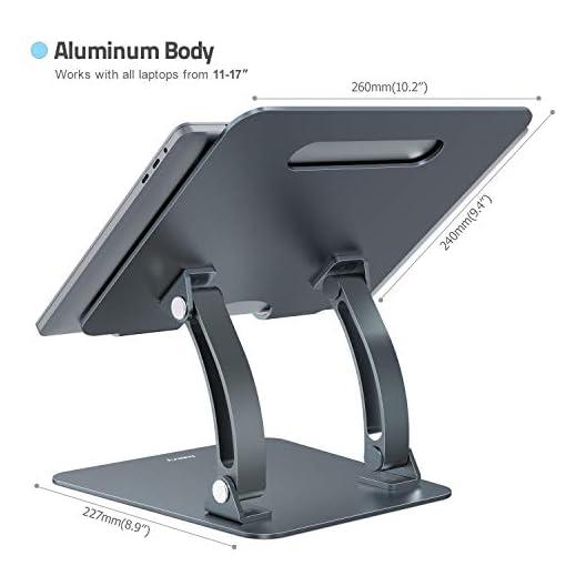 Nulaxy Soporte ergonómico para ordenador portátil, ángulo de altura ajustable 5