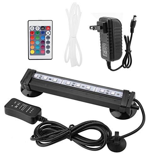 SALUTUYA Luz LED para Acuario Luz para pecera RGB Color cambiante Iluminación subacuática IP68 con Control Remoto para Todas Las peceras de Agua (31 cm)