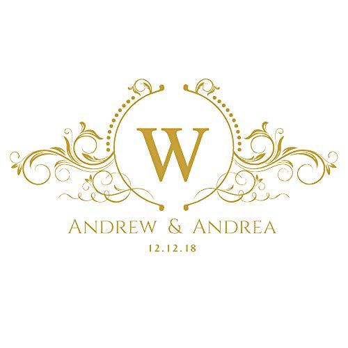Sanzangtang monogram gepersonaliseerd logo huwelijk aftrekbaar vinyl aftrekplaatje bruiloft groot