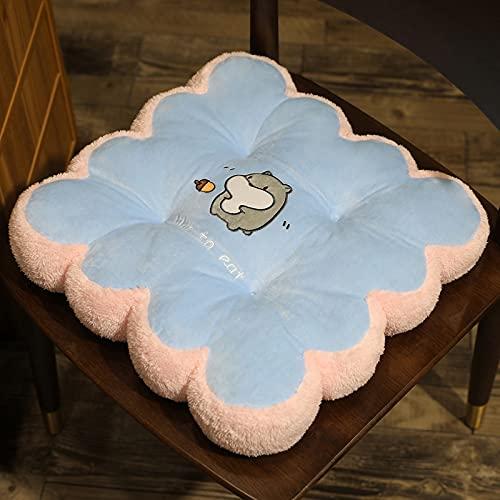 Btytu Cojín de Asiento Acolchado, Almohadillas de Asiento para sillas para jardín al Aire Libre Interior Patio Cocina y sillas de Oficina,F1,40 * 40cm