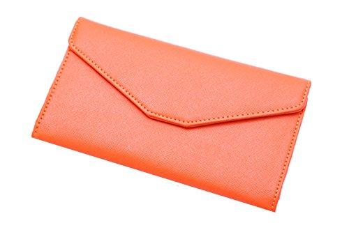 Femicuty Maxi portafoglio da donna/Portafoglio Portafoglio Portafoglio Portafoglio, ORANGE (nero) - QB210