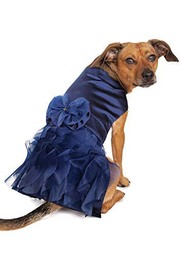 Tail Trends Special Occasion Dog Dress Purple Costumes for Small to Medium Sized Dogs