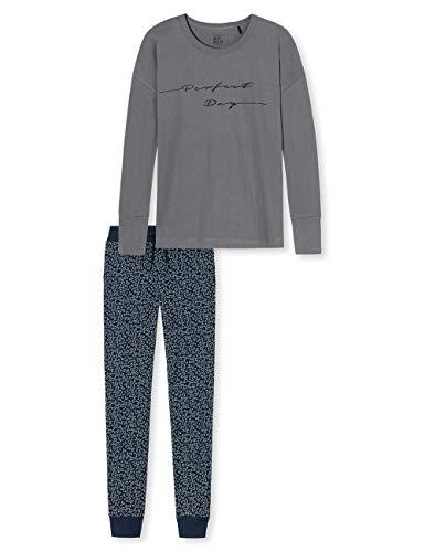 Schiesser Mädchen Anzug lang' Zweiteiliger Schlafanzug, Grau (Grau 200), 164