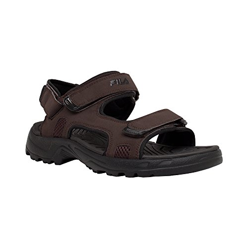 Fila Men's Transition Athletic Sandal, Espresso/Black, 12 M...