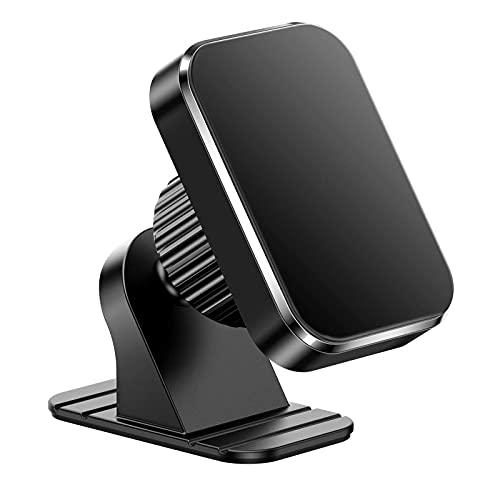 OoB Soporte Movil Coche, Salpicadero/Parabrisas Soporte Móvil para Coche, 360° Rotación Brazo Extensible Sujeta Porta Movil Coche con Botón de Liberación Rápida Compatible con iPhone Samsung