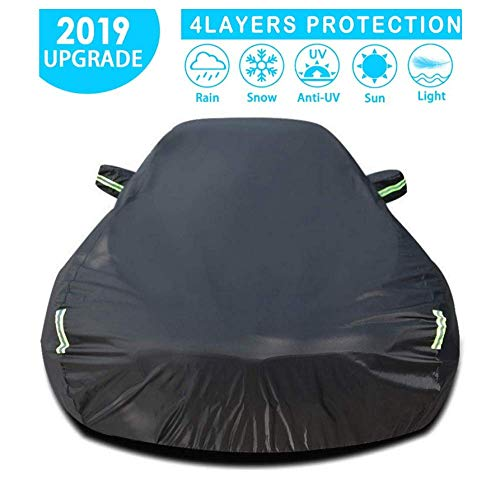 Car Cover Compatibel met Mercedes-Benz waterdicht Anti-UV auto dekzeil Protective Cover Ademend, Black-Cotton-GLS SUV clmaths (Color : Black, Size : Cotton-ML)