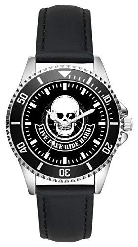 Geschenk für Biker Motorrad Cruiser Shopper Fans Fahrer Kiesenberg Uhr L-2321
