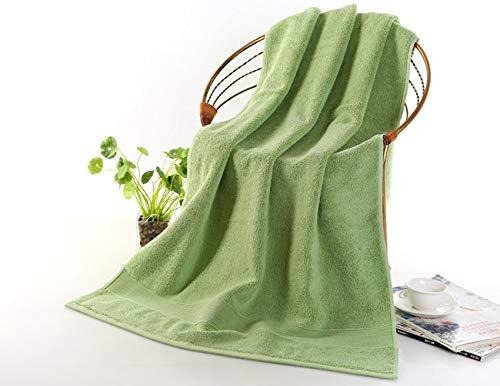 DOROCH Toalla de baño Toallas de baño 70 * 140cm 650g Grueso de Lujo sólida for baño SPA Toallas de baño for Adultos (Color : Green)