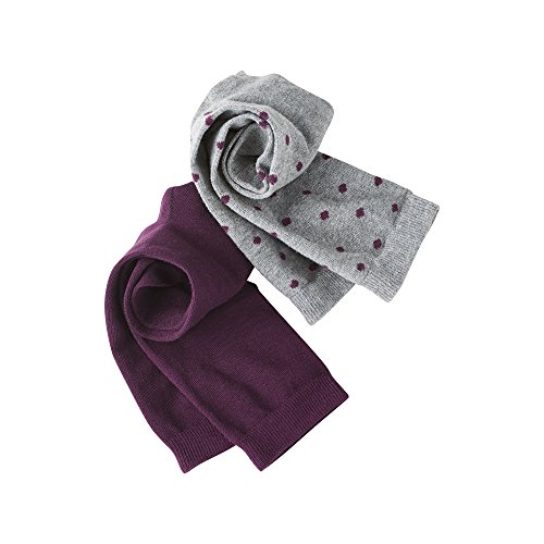 Living Crafts Socken, 2er-Pack 35-38, dark prune/dots