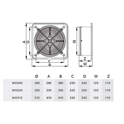 Ø 315 mm axiale ventilator, afzuiging, IP44 WO muur raam blazer ventilator industriële afvoer lucht toevoer hogedruk radiale ventilator radiale ventilator kunststof