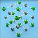 LUCKFY Modelo de Estructura de cloruro de Sodio - Kit de Modelo Molecular - para la química orgánica e inorgánica Médicos Médicos Herramienta educativa